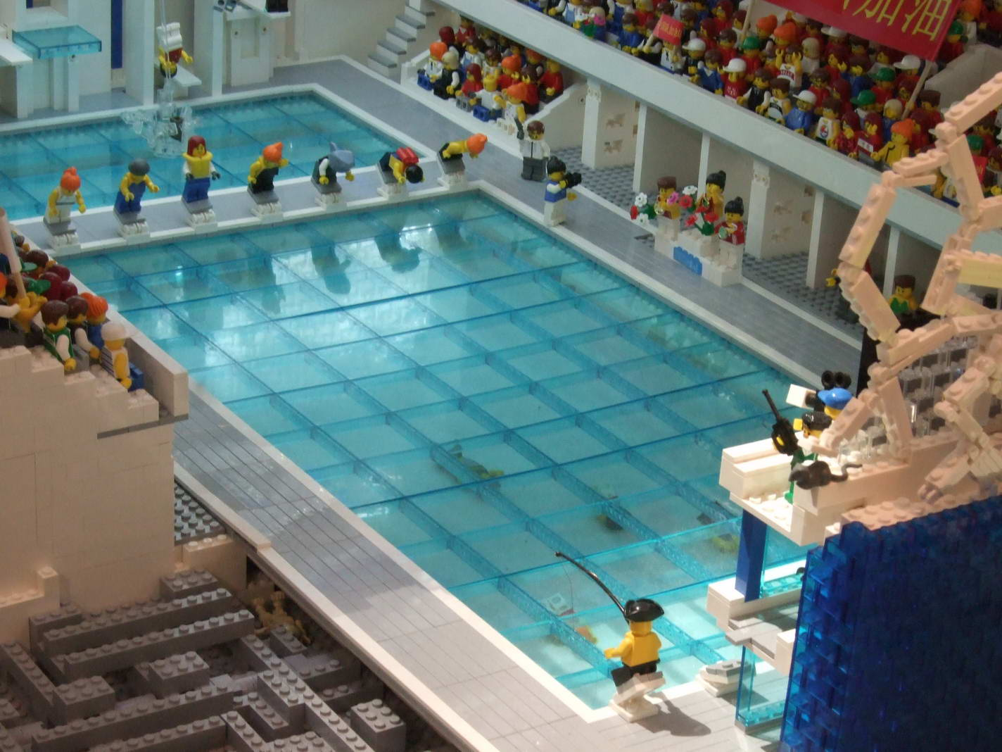 Spotlight beijing architecture lego for Swimming pool design jobs