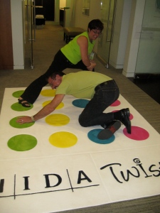 "The ""first"" time IIDA members enjoyed a game of Twista in the middle of NeoCon"