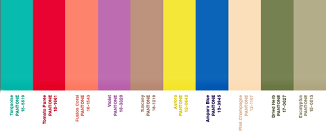 Announced Pantone Spring 2010 Color Report